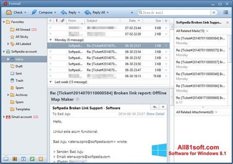 Skärmdump FoxMail för Windows 8.1