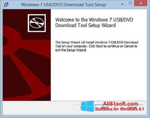 Skärmdump Windows 7 USB DVD Download Tool för Windows 8.1