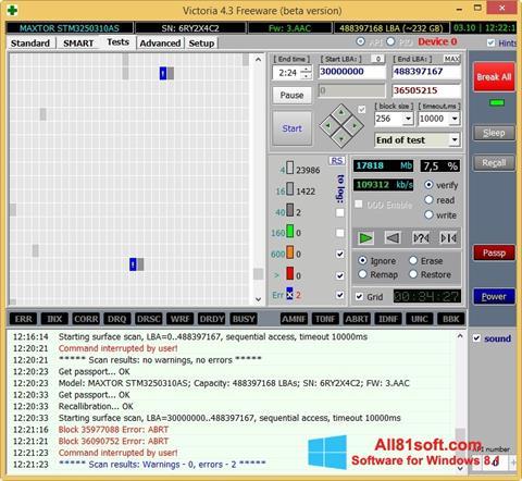 Skärmdump Victoria för Windows 8.1