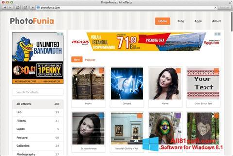 Skärmdump PhotoFunia för Windows 8.1