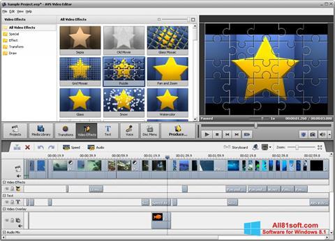 Skärmdump AVS Video Editor för Windows 8.1