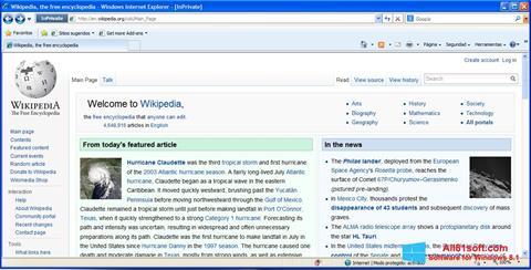 Skärmdump Internet Explorer för Windows 8.1
