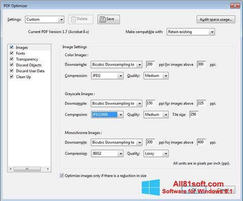 Skärmdump Adobe Acrobat Pro DC för Windows 8.1