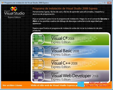 Skärmdump Microsoft Visual Studio för Windows 8.1