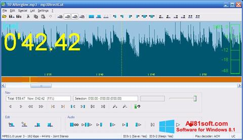 Skärmdump mp3DirectCut för Windows 8.1