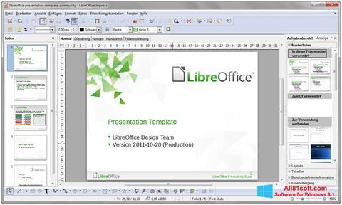 Skärmdump LibreOffice för Windows 8.1