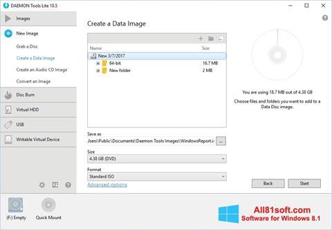 Skärmdump DAEMON Tools Lite för Windows 8.1