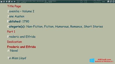 Skärmdump ICE Book Reader för Windows 8.1