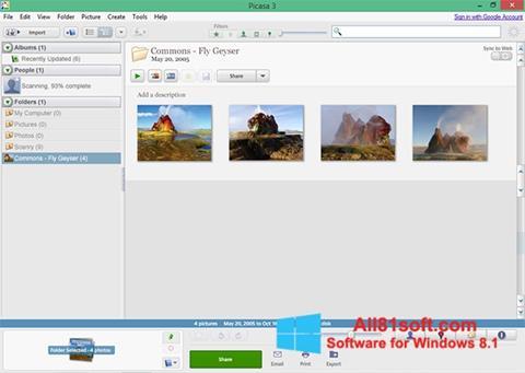 Skärmdump Picasa för Windows 8.1