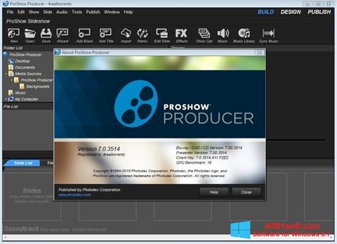 Skärmdump ProShow Producer för Windows 8.1