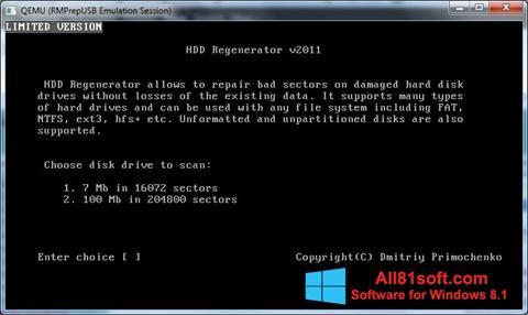Skärmdump HDD Regenerator för Windows 8.1