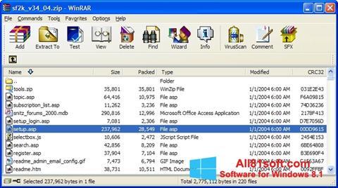 Skärmdump WinRAR för Windows 8.1