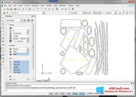 Skärmdump DraftSight för Windows 8.1