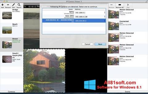 Skärmdump IP Camera Viewer för Windows 8.1