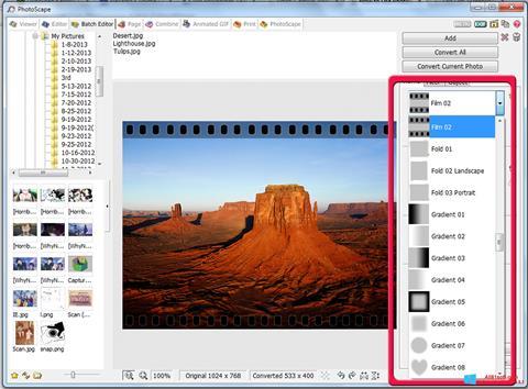 Skärmdump PhotoScape för Windows 8.1