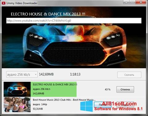 Skärmdump Ummy Video Downloader för Windows 8.1