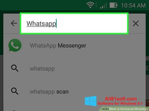 Skärmdump WhatsApp för Windows 8.1
