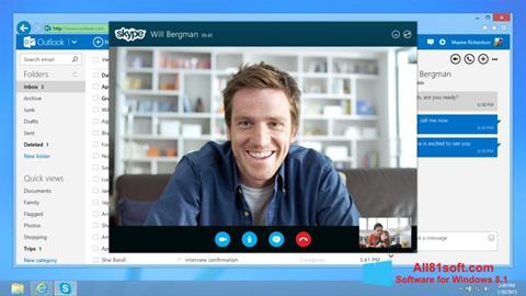 Skärmdump Skype för Windows 8.1